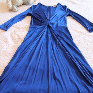 ISSA LONDON Royal Blue Silk Dress